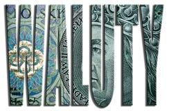 Waluty - Währungen 100 PLN oder polnische Zlotybeschaffenheit Stockfotografie