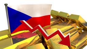 Waluty zawalenie się - Czeska korona Zdjęcia Royalty Free