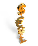 Waluty zawalenie się Zdjęcia Stock