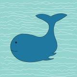 Walvis, een hand getrokken illustratie van een walvis royalty-vrije illustratie