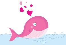 Walvis in liefde vector illustratie