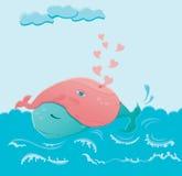 Walvissen in liefde Stock Afbeeldingen