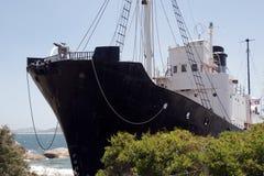 Walvisvangstboot met harpoen royalty-vrije stock afbeeldingen