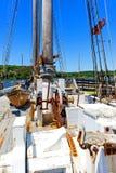 Walvisvangstschip Charles W morgan stock foto's