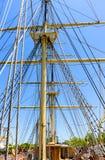 Walvisvangstschip Charles W morgan royalty-vrije stock afbeelding