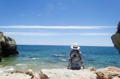 Waman on the beach. Royalty Free Stock Photography