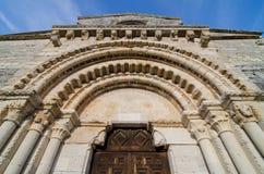 Wamba Romanesque church entrance Stock Photography