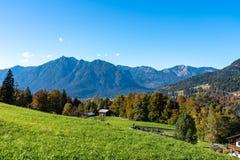 Wamberg vicino a Garmisch ? il villaggio pi? ad alta altitudine della Germania fotografia stock