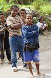 Παιδιά στην οδό σε Wamena, νησί της Νέας Γουϊνέας, Ινδονησία Στοκ Εικόνες