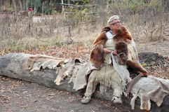 Wampanoag alla piantagione di Plimouth Fotografia Stock
