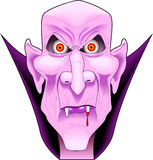 wampir twarz ilustracja wektor