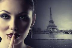 Wampir w Paryż Obrazy Stock