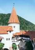 Wampira wierza Otręby sławny wampira kasztel Dracula w Transylvania fotografia royalty free