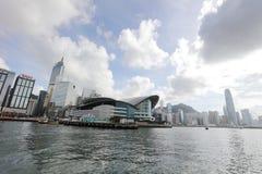 Wan Chai en el verano de Hong Kong 2017 Fotografía de archivo libre de regalías