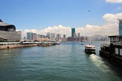 Wan Chai Ferry Pier stock photography