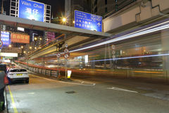 Wan chai night Royalty Free Stock Image