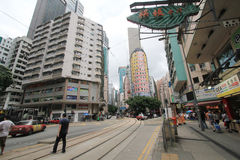 Wan Chai street view in Hong Kong Royalty Free Stock Image