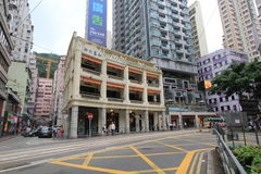 Wan Chai street view in Hong Kong Royalty Free Stock Photography