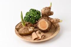 WAN-chak-mot-luk (nom thaïlandais) (xanthorrhiza Roxb de safran des Indes ) Tiges, sèches et en poudre Photo stock