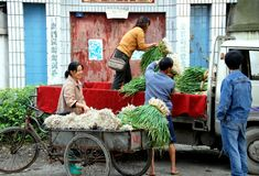 Wan Jia, China: Farm Family Royalty Free Stock Photos