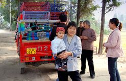 Wan Jia, China: Grandmother with Baby Stock Photos