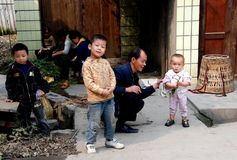 Wan Jia, China: Three Young Boys Royalty Free Stock Photo