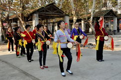 Wan Jia, China: Women's Waist-Drum Band Stock Photos