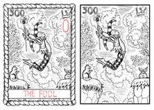 Ważna arcana tarot karta Dureń Zdjęcia Royalty Free