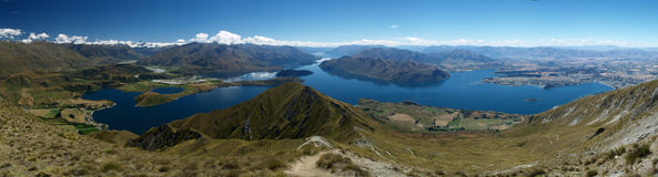Wanaka lake Stock Image