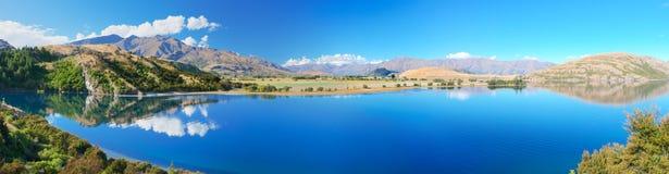 Wanaka lake. Lake Wanaka at summer sunny day Stock Images