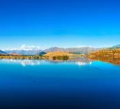 Wanaka lake. Lake Wanaka at summer sunny day Stock Photography