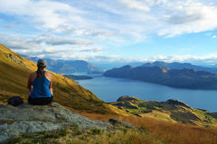 Wanaka Lake stock photo