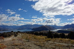 Wanaka Lake from Mount Iron Royalty Free Stock Photography