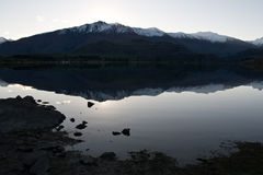 Wanaka Lakeshore Reflection Stock Photo