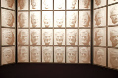 Wanaka, New Zealand - Febr 5, 2015: hall of following faces at Puzzling world Royalty Free Stock Image