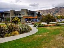 Wanaka, New Zealand. Wanaka town, street view. Otago, New Zealand Stock Photo