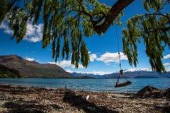 Wanaka See, Neuseeland Lizenzfreies Stockbild