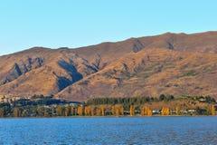 Wanaka sjö i Nya Zeeland Fotografering för Bildbyråer