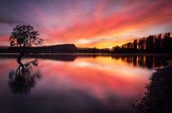Wanaka Sunrise - New Zealand stock photo
