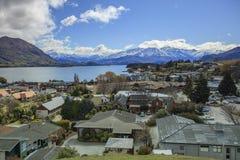 WANAKA TOWN NEW ZEALAND-SEPTEMBER 5:wanaka is a ski and summer r Stock Images