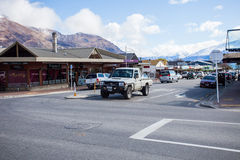 WANAKA TOWN NEW ZEALAND-SEPTEMBER 5:wanaka is a ski and summer resort town Stock Photo