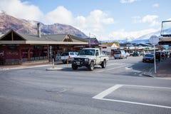 WANAKA TOWN NEW ZEALAND-SEPTEMBER 5:wanaka is a ski and summer resort town Stock Photo