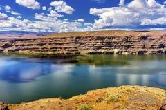 Wanapum湖哥伦比亚河野马纪念碑华盛顿 免版税库存照片