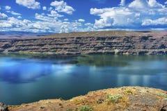 Wanapum湖哥伦比亚河野马纪念碑华盛顿 库存图片