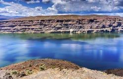 Wanapum湖哥伦比亚河野马纪念碑华盛顿 免版税图库摄影