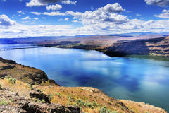 Wanapum Lake Colombia River Wild Horses Monument Washington Stock Image