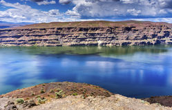Wanapum Lake Colombia River Wild Horses Monument Washington Royalty Free Stock Photography