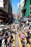Busy crossing on Johnston Road, Wan Chai, Hong Kong Stock Photos