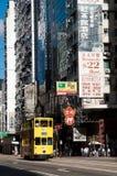 Hong Kong tram, Hennessey Road, Wanchai Stock Images
