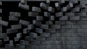 Wand-Öffnungs-Animation vektor abbildung
